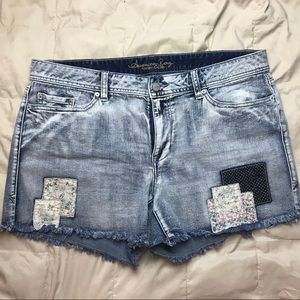 American Rag Acid Wash Denim|Jean Patchwork Shorts